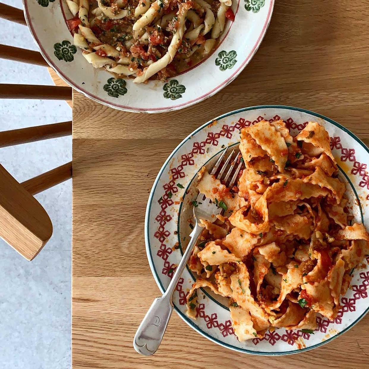 3 recettes de pâtes de mammas italiennes piquées à Vicky Bennison